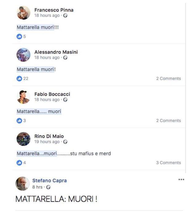 Otto pagine di insulti contro Sergio