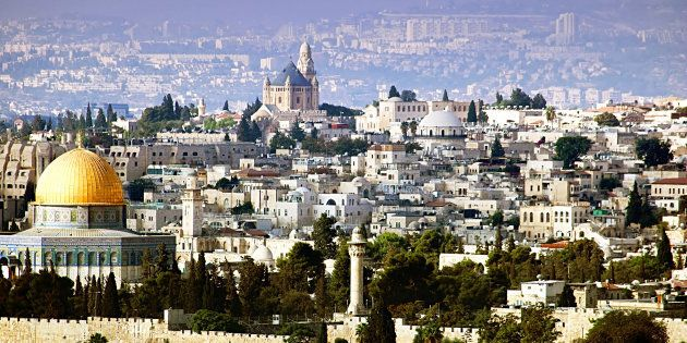 Jerusalem view from the Olive mountain,