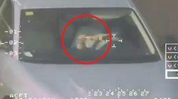 Si lava i denti mentre va a 80 all'ora in tangenziale: la polizia la riprende