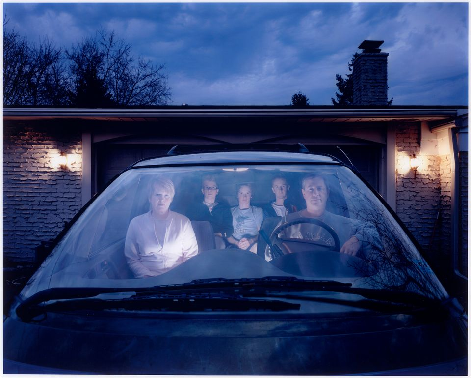 Self-portrait (Julie) with family in SUV, Michigan Julie Mack (American, born in 1982) 2007 Photograph,...