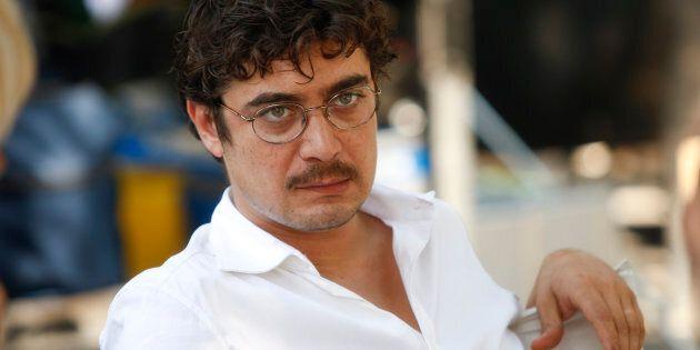 Italian actor Riccardo Scamarcio looks on during the filming of Italian director Pupi Avati's