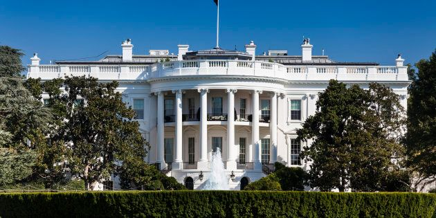 The White House 1600 Pennsylvania Ave home of the President of the United States of America in Washington...