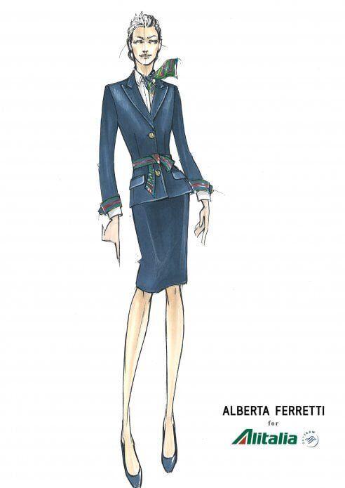 Alitalia torna al blu con le nuove divise firmate Alberta