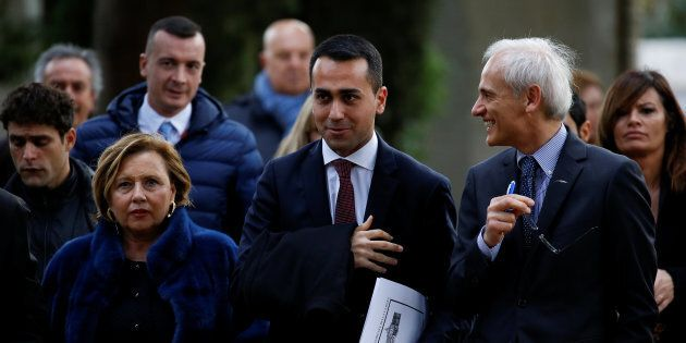 5-Star Movement leader Luigi Di Maio arrives at the Link Campus University in Rome, Italy February 6,...