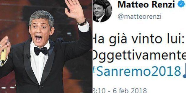 Sanremo 2018 e la politica: sotto elezioni Fiorello e il Festival piace ai leader. Twittano Renzi, Di...