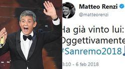 Sotto elezioni la politica segue Sanremo (e Fiorello). Twittano per lui Renzi, Di Maio e anche