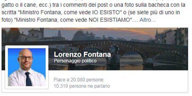 """""""Caro ministro, noi esistiamo"""". Le famiglie gay inondano di foto la pagina Fb di Fontana. Lui le"""