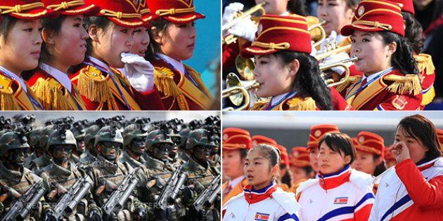 Le parate di Kim. Al Nord celebra i 70 anni dell'esercito, al Sud sfilano atleti, bande e