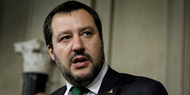 Matteo Salvini ai giornalisti in Senato: