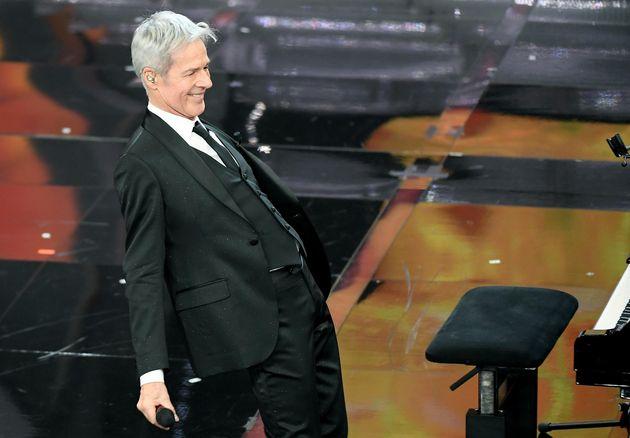 Italian singer and Sanremo Festival artistic director Claudio Baglioni on stage during the 68th Sanremo...