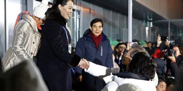 PYEONGCHANG-GUN, SOUTH KOREA - FEBRUARY 09: Kim Yo Jong, left, sister of North Korean leader Kim Jong...
