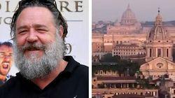 Russell Crowe fa a Roma il miglior omaggio