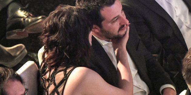 09/02/2018 Sanremo. 68 Festival della Canzone Italiana, quarta serata. Nella foto il leader della Lega...