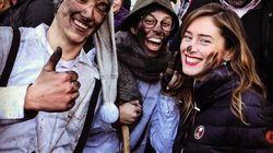 Trucco e carnevale, Maria Elena Boschi fa festa in Alto