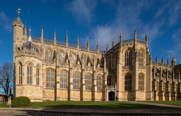 St George's Chapel, at Windsor Castle, where Prince Harry and Meghan Markle will have their wedding service,...