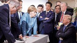 Questa magnifica foto riassume perfettamente la visita al G-7 di Donald