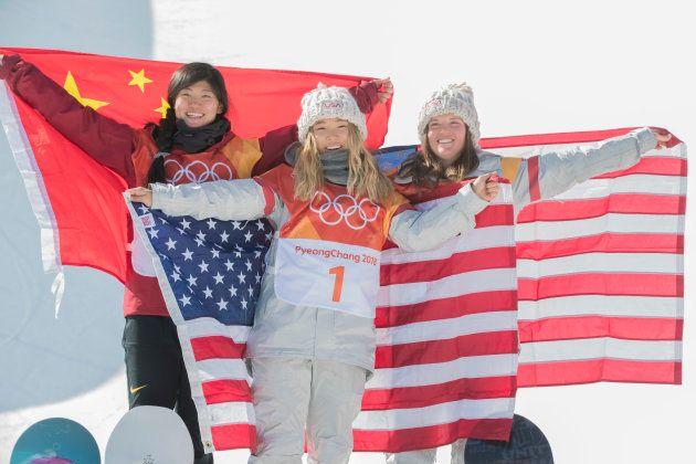 13th February 2018, Pyeongchang, South Korea; 2018 Winter Olympic Games, Day 4; Phoenix Snow Park; Chloe...