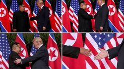 Donald Trump e Kim Jong Un, stretta di mano e documento comune dopo 70 anni di