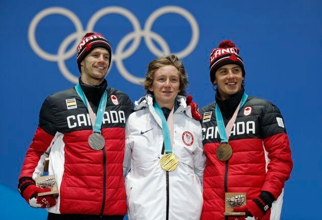 Medals Ceremony - Snowboarding - Pyeongchang 2018 Winter Olympics - Men's Slopestyle - Medals Plaza -...