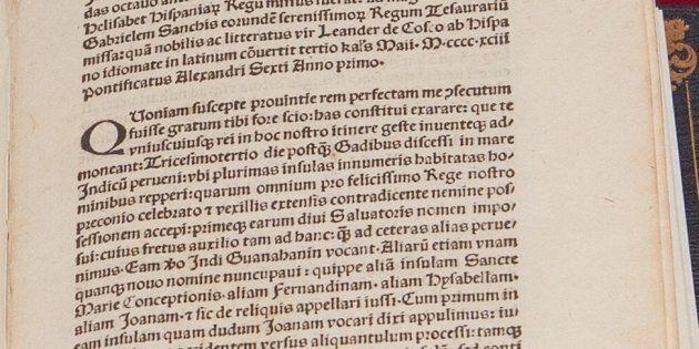 Restituita al Vaticano la lettera di Cristoforo Colombo sulla scoperta delle