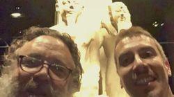Un ospite speciale al Museo Egizio di Torino.