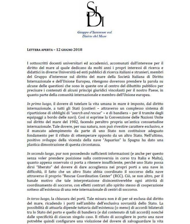 Tutela della vita, chiusura dei porti, caso Malta, Dublino: la posizione degli esperti di diritto del