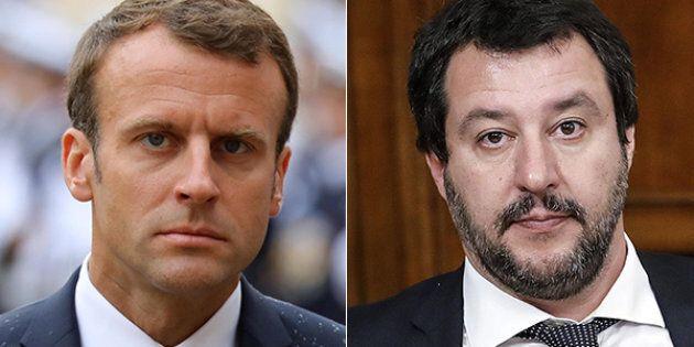 Le tre bordate di Macron a Salvini sui migranti: