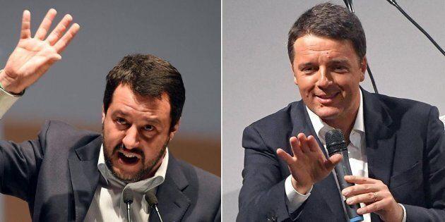Confronto tv Renzi-Salvini a Porta a