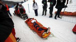Le tragiche immagini dell'incidente dello snowboarder giapponese alle Olimpiadi