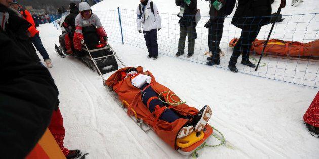 Le tragiche immagini dell'incidente dello snowboarder giapponese Yuto Totsuka alle Olimpiadi