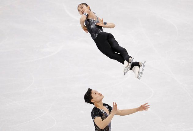 Figure Skating ? Pyeongchang 2018 Winter Olympics ? Pair Skating short program competition ? Gangneung...