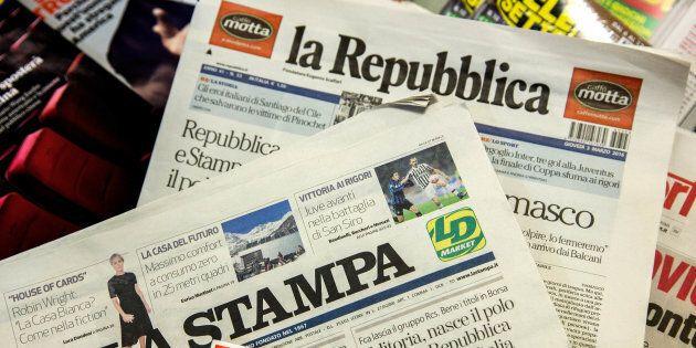 La Repubblica e i quotidiani del gruppo Gedi non escono in