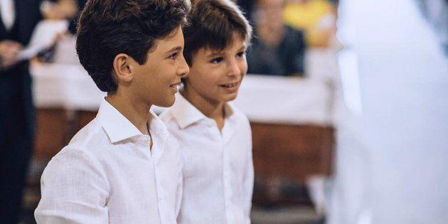 I fratellini di Messina, a sinistra Francesco Filippo, a destra Raniero, morti in un incendio ha devastato...