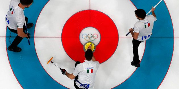 Curling - Pyeongchang 2018 Winter Olympics - Men?s Round Robin - Canada v Italy - Gangneung Curling Center...