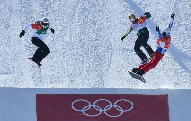 Snowboarding ? Pyeongchang 2018 Winter Olympics ? Men's Snowboard Cross Finals ? Phoenix Snow Park ?...