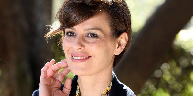 ROME, ITALY - FEBRUARY 15: Claudia Pandolfi attends 'E' Arrivata La Felicita' tv show on February 15,...