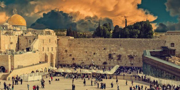Western Wall in Jerusalem is a major Jewish sacred