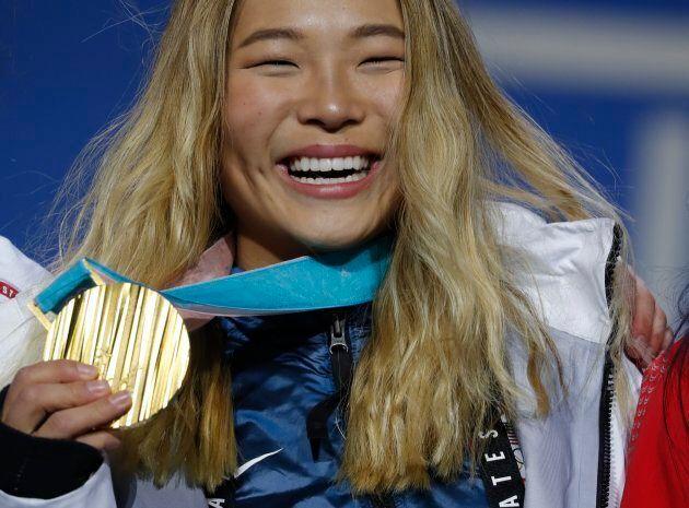 Medals Ceremony - Snowboarding - Pyeongchang 2018 Winter Olympics - Women's Halfpipe - Medals Plaza -...