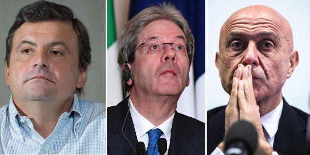 Tre ministri e un governo stabile: Minniti, Calenda, Gentiloni si proiettano sul 5 marzo. Renzi resta...