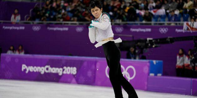 GANGNEUNG, SOUTH KOREA - FEBRUARY 17: Yuzuru Hanyu of Japan during the Figure Skating Men Free Program...
