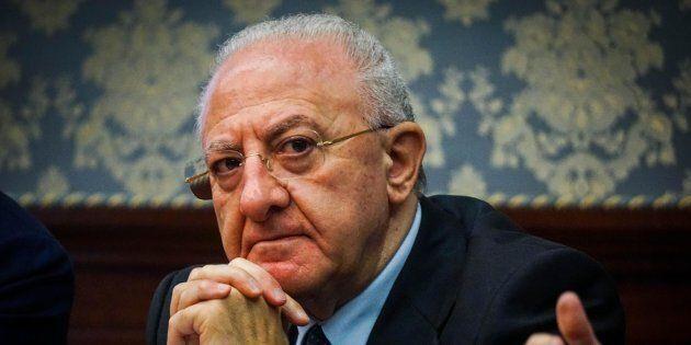 Il governatore della Campania Vincenzo De Luca:
