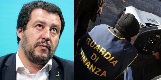 Matteo Salvini dalla guardia di finanza rilancia il