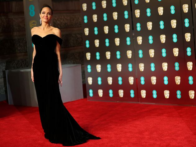 Angelina Jolie arrives at the British Academy of Film and Television Awards (BAFTA) at the Royal Albert...