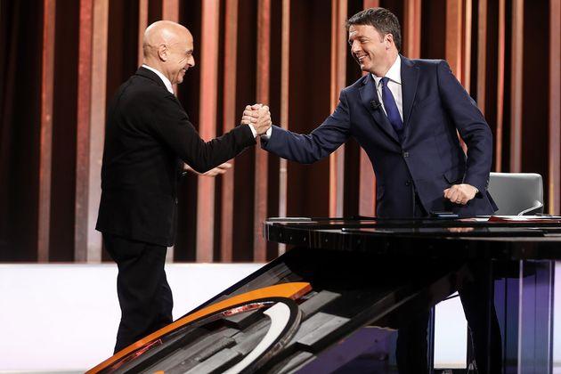 Il segretario del Partito Democratico Matteo Renzi e il ministro dell'Interno, Marco Minniti, ospiti...
