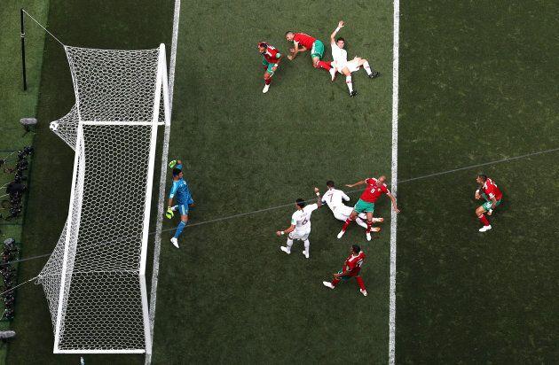 Marocco-Portogallo 0-1. Cristiano Ronaldo segna il quarto gol in due partite dei mondiali