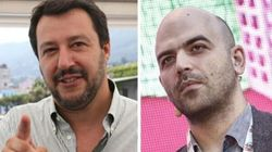 Salvini minaccia di rivedere la scorta a Saviano.