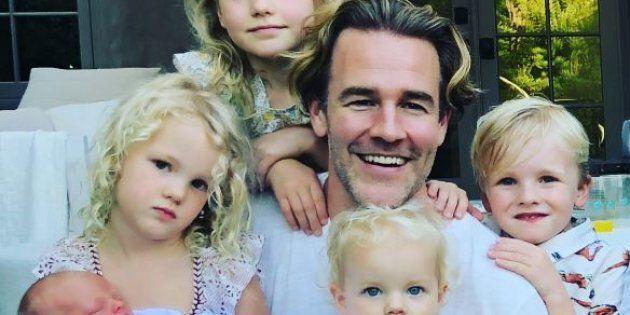 Dawson (James Van Der Beek) diventa padre per la quinta
