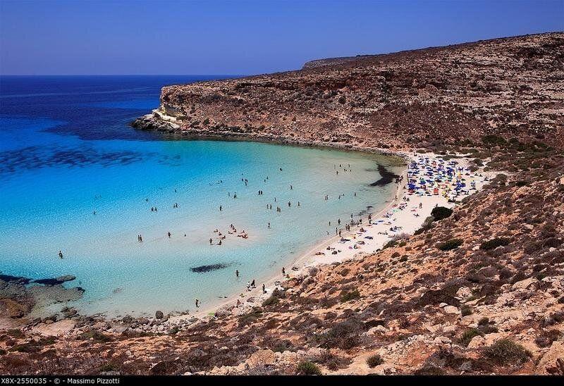 Beach of Rabbits in Lampedusa, Sicily,