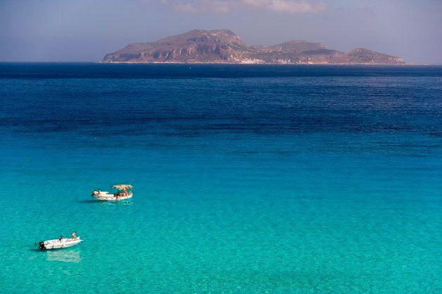 Europe, Italy, Sicily, Egadi Islands, Favignana, Cala Rossa (Photo by Marka/UIG via Getty