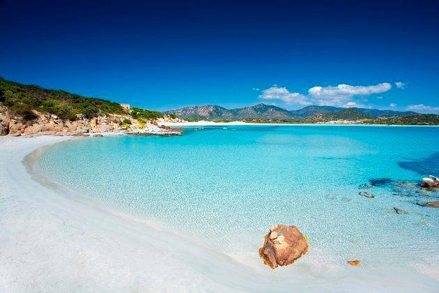 Porto Giunco beach. Villasimius (CA). Sardinia. Italy. Europe. (Photo by: Luca Picciau/REDA&CO/UIG via...